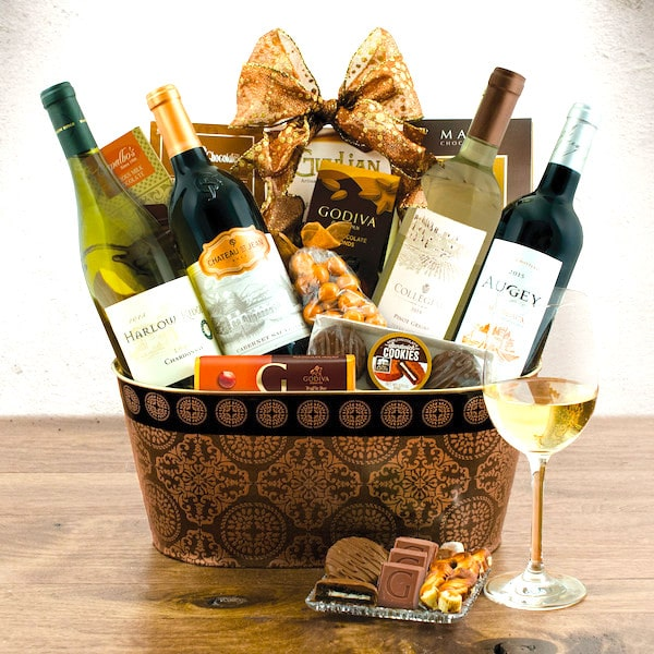 Wine Lover's Collection Gift Basket - Top Gift basket for men 2019