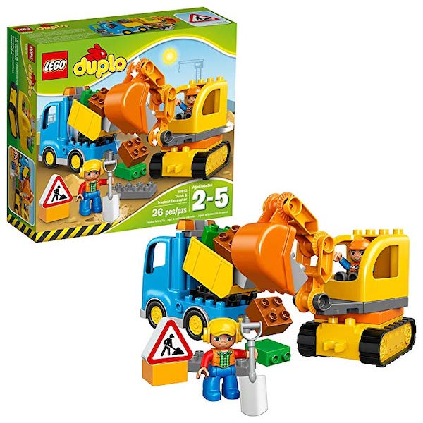 LEGO DUPLO Town Truck & Tracked Excavator 10812 Dump Truck - gift for kids