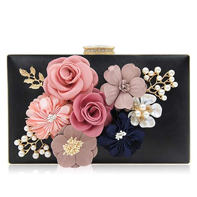Gift to Bride Wedding - Flower Wedding Clutch Purse Bride Floral Clutch Bag