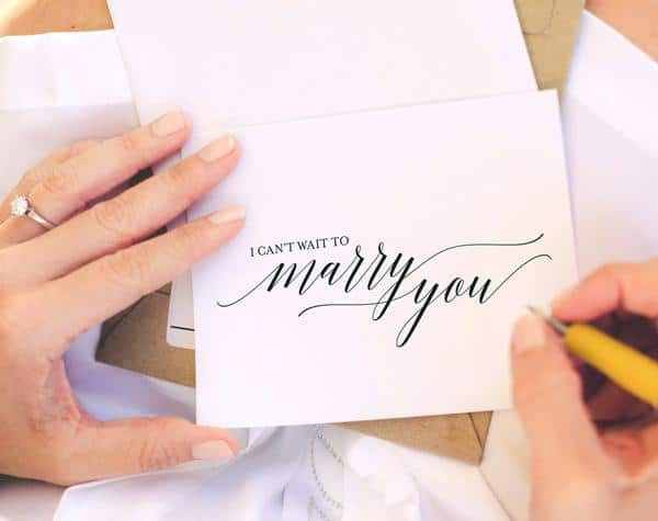 I cant wait to marry you card - top wedding gifts from the groom to the bride