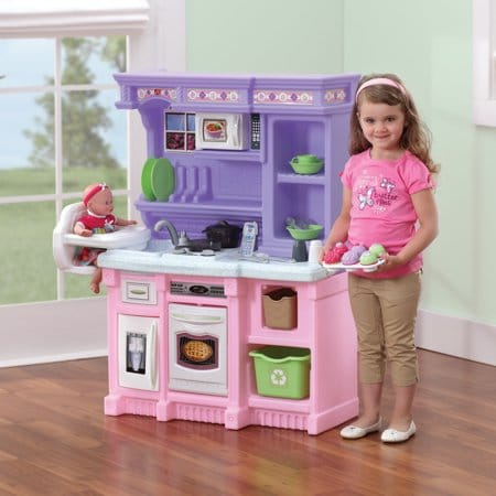 Step2 Little Bakers Kids Play Kitchen with 30 Piece Accessory Set - Kids Gift Idea