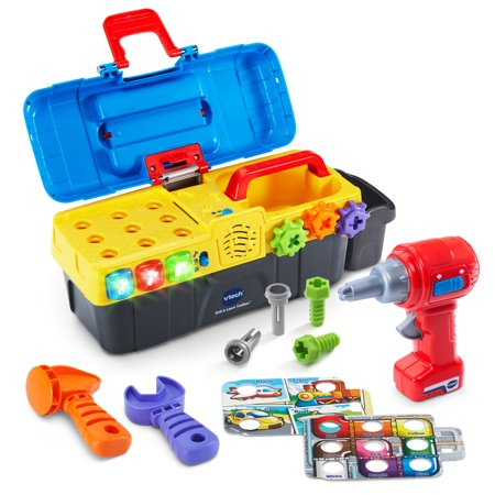 VTech Drill & Learn Toolbox With Working Drill and Tools- Kids gift