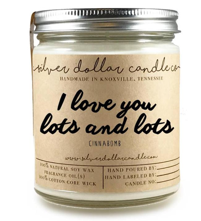 Gift for women | gift idea for girlfriend | I Love You Soy Candle