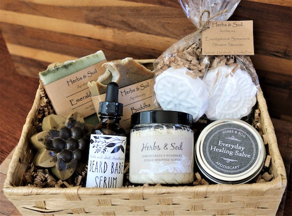 Men's Bath Gift Basket