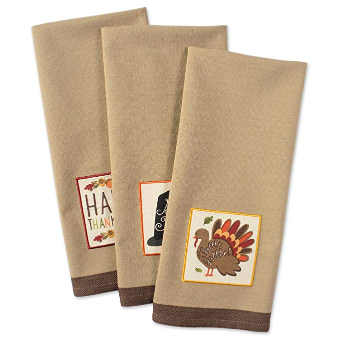 Cotton Thanksgiving Holiday Dish Towels