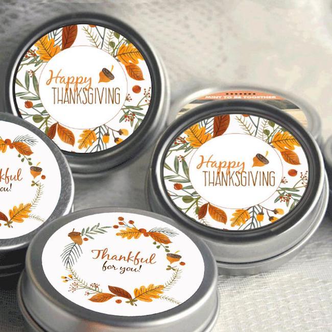 12 Thanksgiving Mint Tins