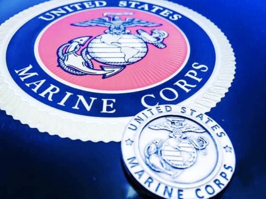 USMC Logo Marines - www.northpolestar.com | Gift Idea for retired marines