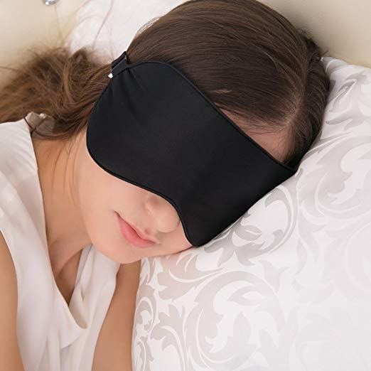 Alaska Bear Natural Silk Sleep Mask, Blindfold, Super Smooth Eye Mask travel gift idea