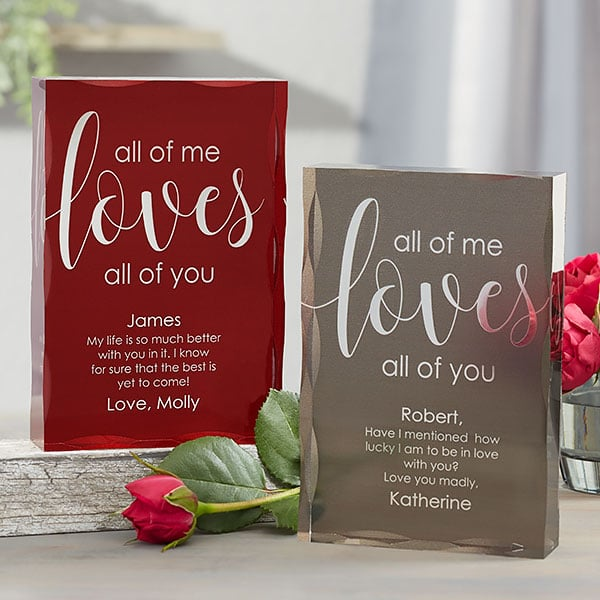 All Of Me Loves All Of You Personalized Colored Keepsake