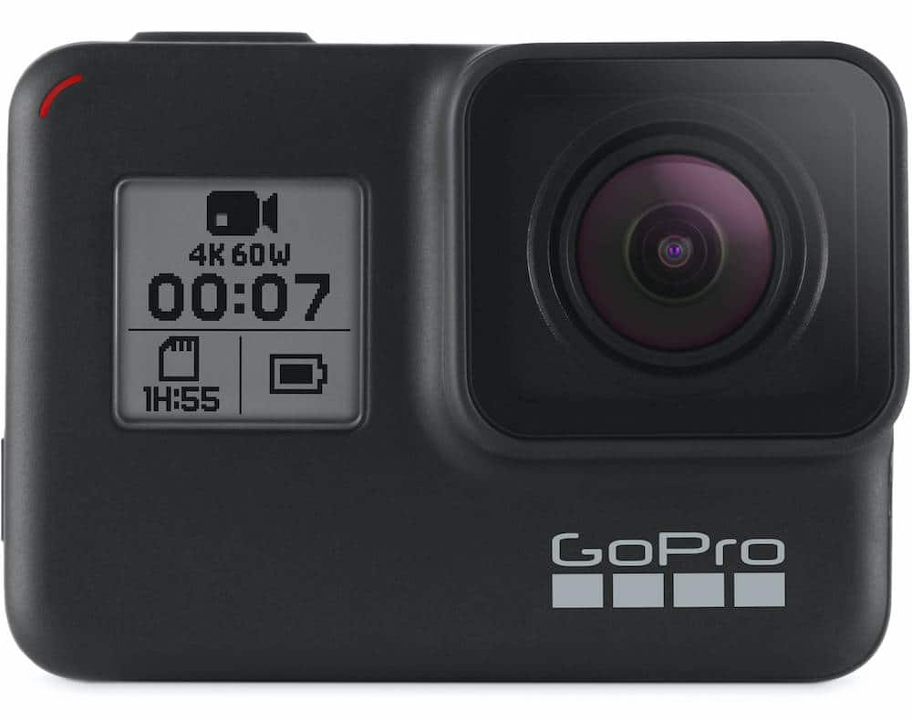 GoPro Hero7 Black Action Camera with Accessories Gift for travelers, adventurers and travel lovers