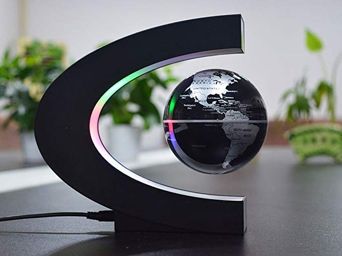 Senders Floating Globe with LED Lights C Shape Magnetic gift for travelers