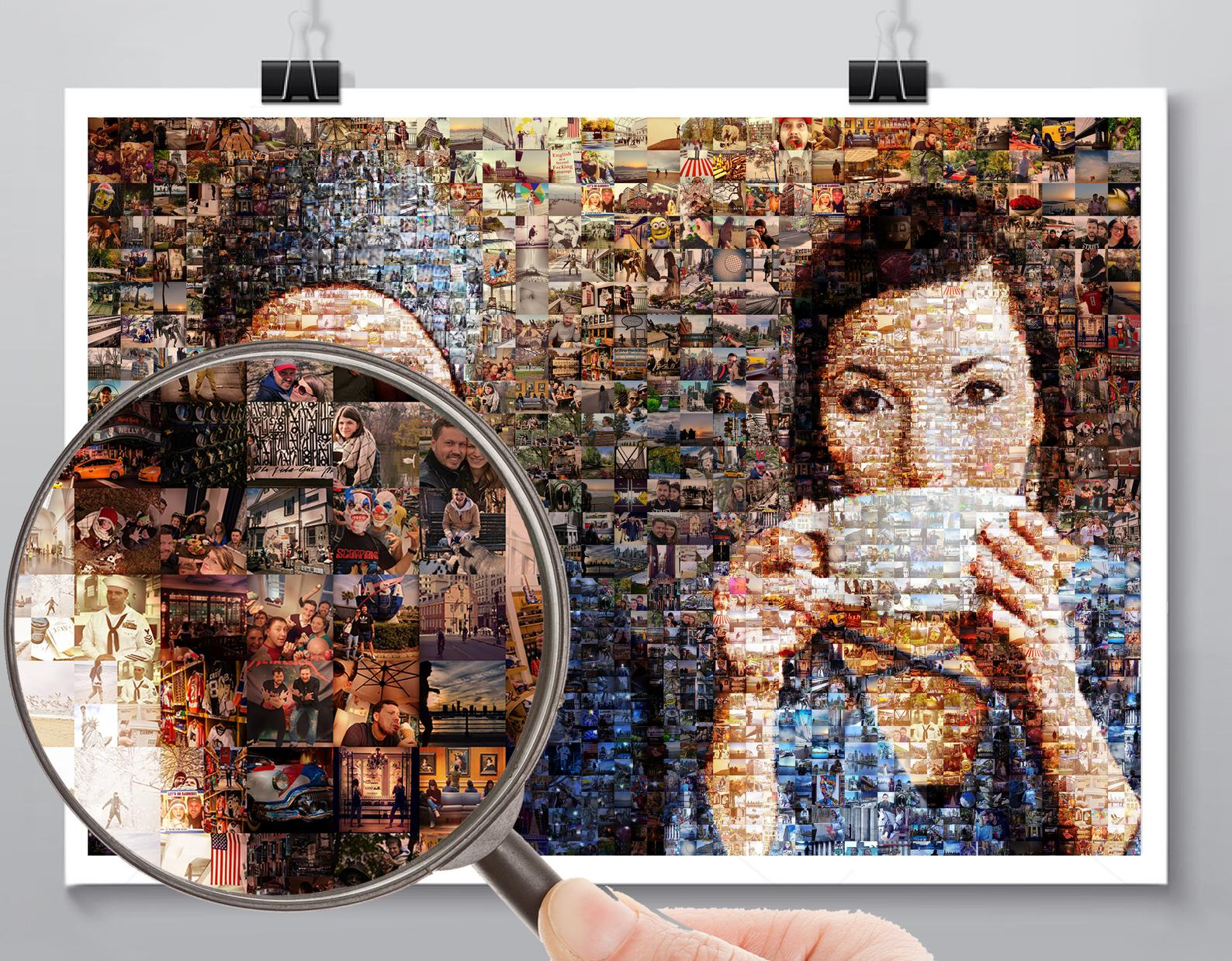 Love Boyfriend Gift for Him Mosaic picture | best gift for Valentine's Day