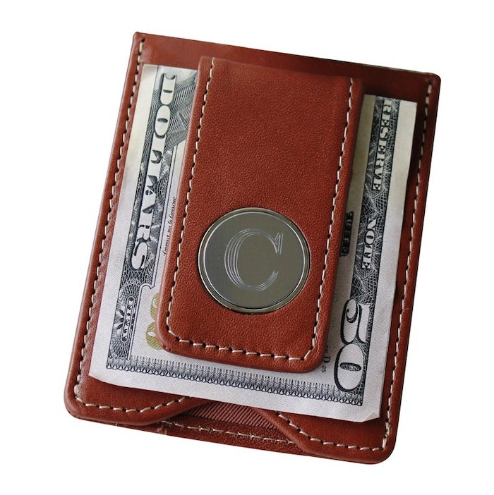Personalized Leather Money Clip and Wallet Combo | best gift for boyfriend Valentine's Day
