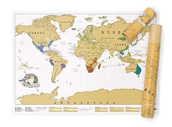 Scratch Map Original Scratch off Map | gift for travelers and travel lovers