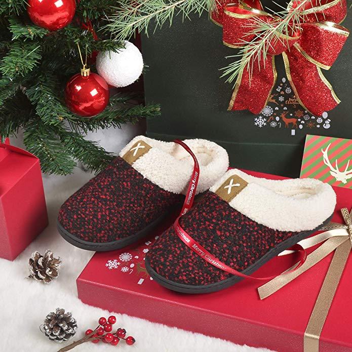 ULTRAIDEAS Women's Cozy Memory Foam Slippers gift for mother-in-law