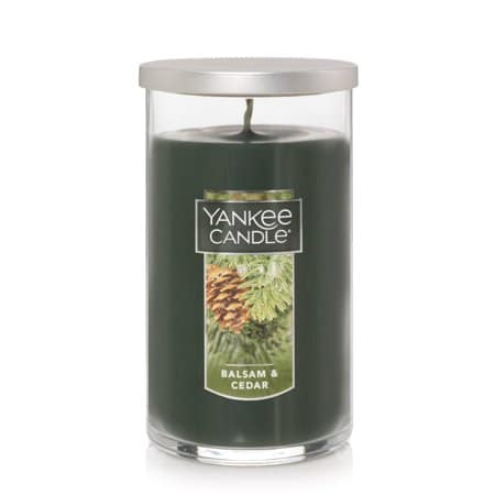 Yankee Candle Balsam & Cedar - Medium Perfect Pillar Candle gift for mom, mothers day, Christmas, mother-in-law