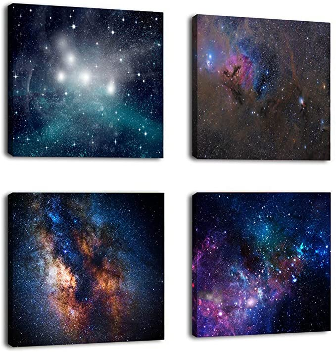 Natural art –Outer Space Starlight Wall Painting Prints on Canvas