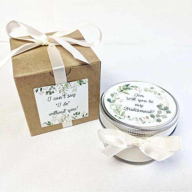 Bridesmaid Favor | Bridesmaid Candle | Bridesmaid Gift | Wedding Favors