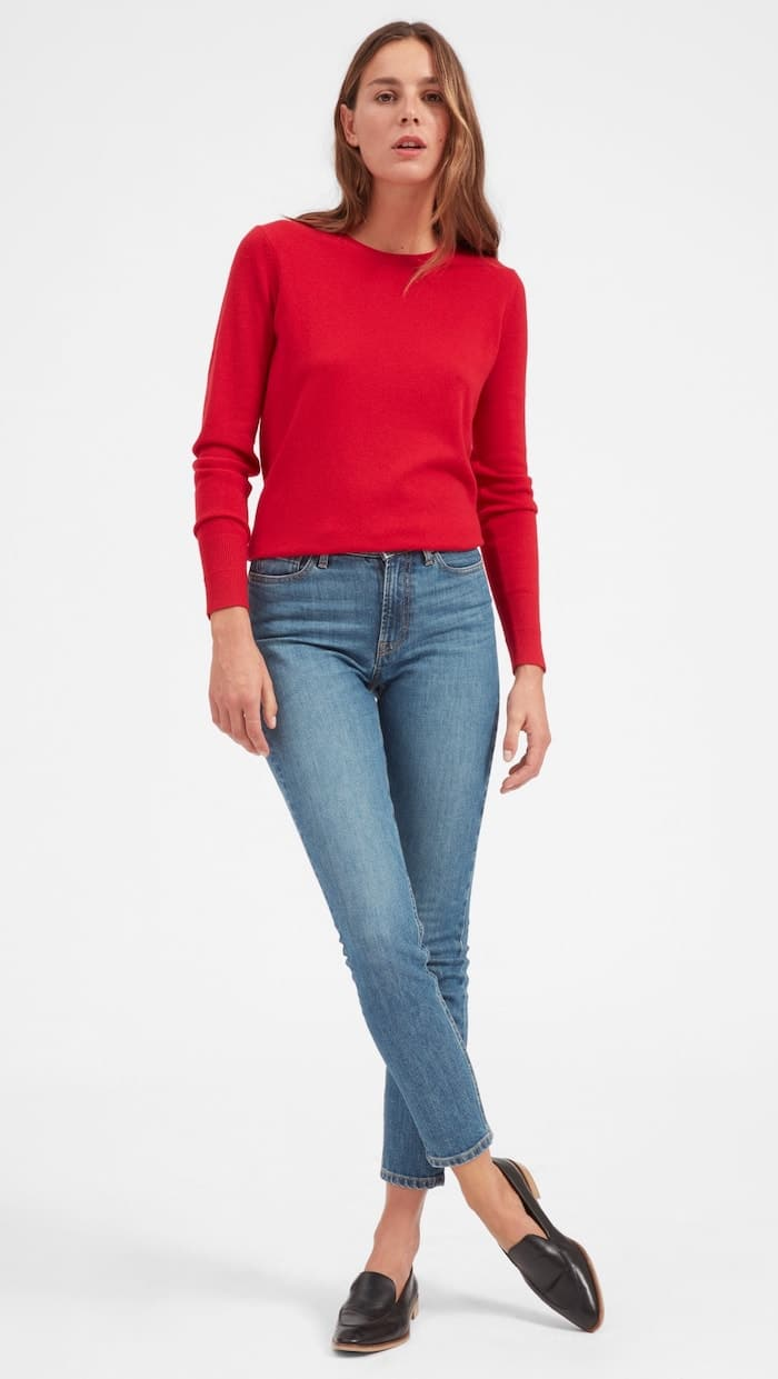 Everlane Cashmere Crew gift idea for woman