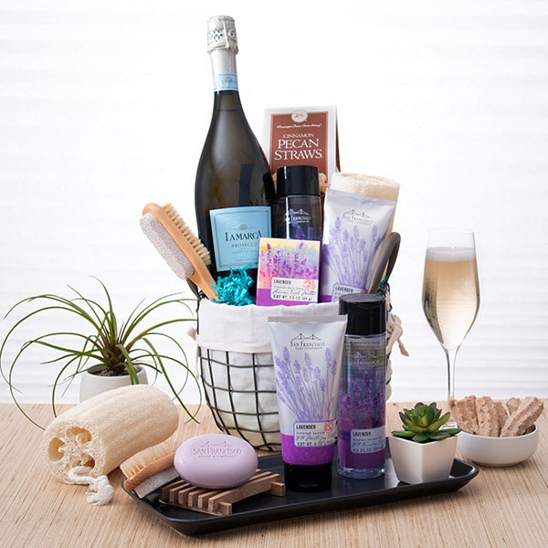Day at The Spa Gift Basket gift idea for bridesmaid