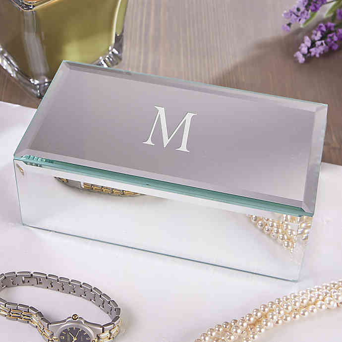 Reflections Engraved Mirrored Jewelry Box bridesmaid gift idea