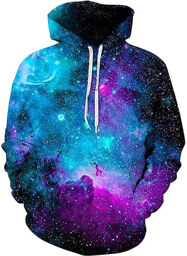 Sanatty Unisex 3D Print Galaxy Hoodie for space nerds