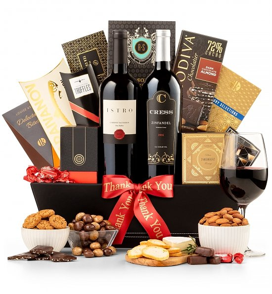 The 5th Avenue Wine Gift Basket gift idea for bridesmaid