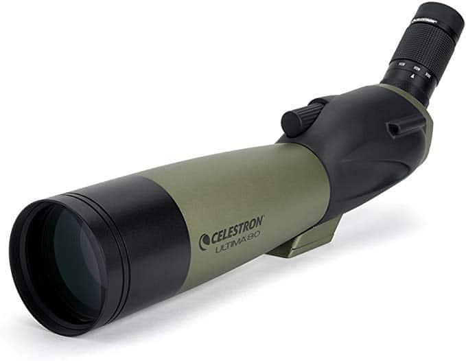 Celestron – Ultima 80 Angled Spotting Scope – 20 to 60x80mm Zoom Eyepiece