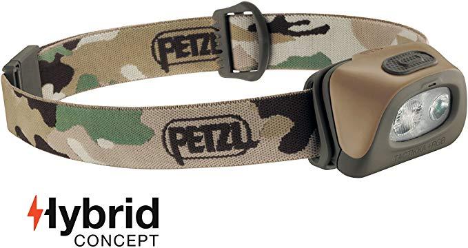 PETZL - TACTIKKA+ RGB Headlamp, 250 Lumens, Red-Green-Blue Lighting