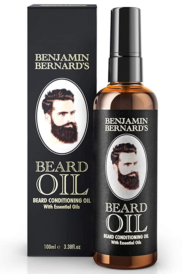 3.38 Fl.oz (100ml) Beard Oil - Beard Grooming Conditioner Oil for Men by Benjamin Bernard
