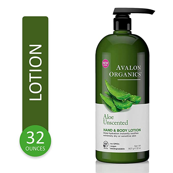 Avalon Organics Hand and Body Lotion, Aloe Unscented