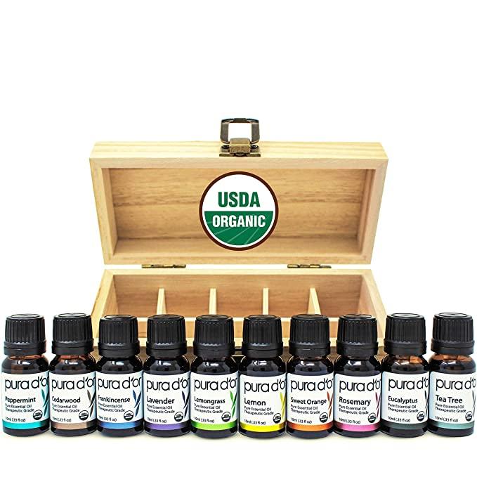 PURA D'OR USDA Organic 100% Pure Therapeutic Essential Oil gift idea