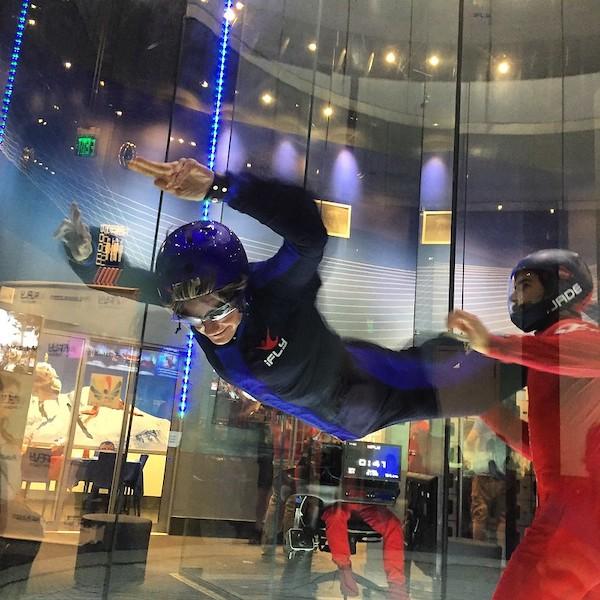 Indoor skydiving- image credit Forsaken Fotos