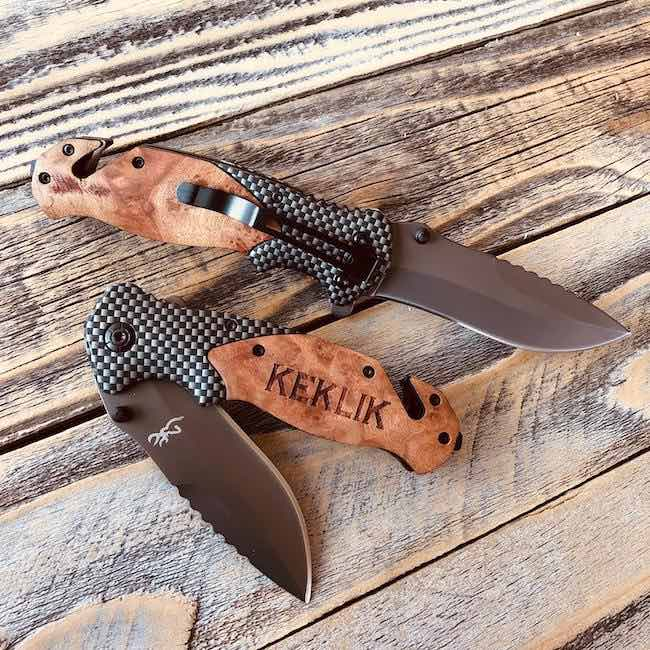 Carbon Fiber Personalized Knife