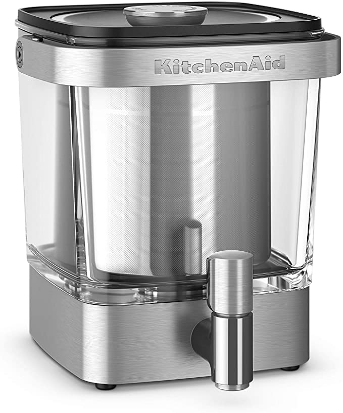 KitchenAid KCM5912SX Cold Brew Coffee Maker 38 Ounce Brushed Stainless Steel