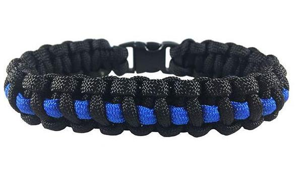 Paracord Survival Thin Blue Line Bracelet