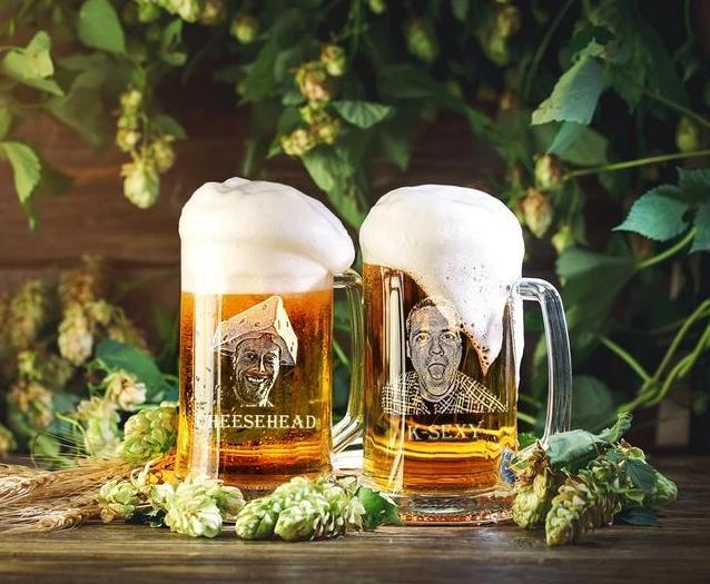 Personalized Beer Glass - FOTO FLAGON
