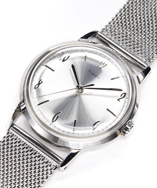 TIMEX Marlin Mesh Band Watch In Silver