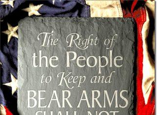 """2nd Amendment Right Tin Sign (12.5""""X16"""")"""