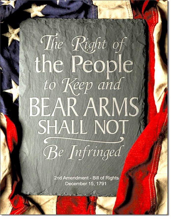 2nd Amendment Right Tin Sign (12.5