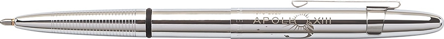 APOLLO 13 50th anniversary chrome bullet space pen w/ chrome clip