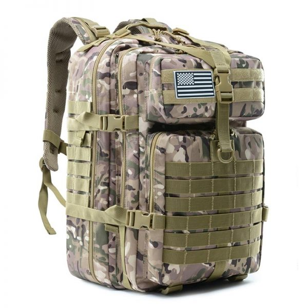 50L Large Tactical Hunting Backpack – Military Assault Molle Waterproof Bag for Trekking, Camping, Hunting, Climbing, Hiking