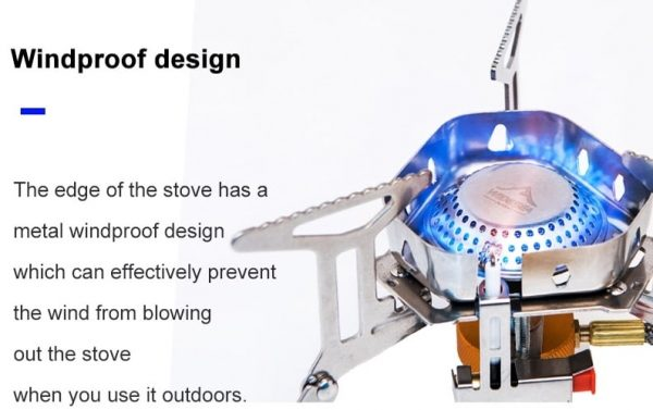 Widesea Windproof outdoor gas burner camping stove 3500W with Piezo Ignition tourist equipment kitchen cylinder propane grill hiking backpacking picnic cooking