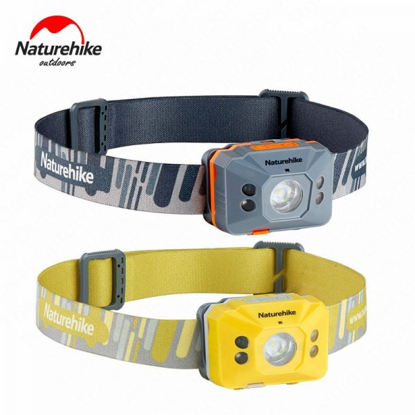 Naturehike Outdoor LED Waterproof Portable Headlamp Induction Switch Ultralight 4 Mode with Battery and USB Cable For Camping Running Hiking NH17G025-D