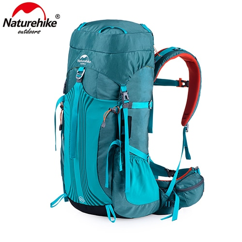 Naturehike 55L 65L Backpack Professional Hiking Bag with Suspension System NH16Y065-Q - Blue