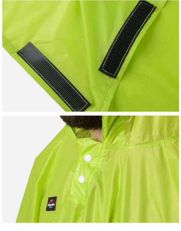 Multifunction Poncho Lightweight Reusable Raincoat Emergency Rain Gear Jacket with Hood For Hiking Fishing Camping Mountaineering