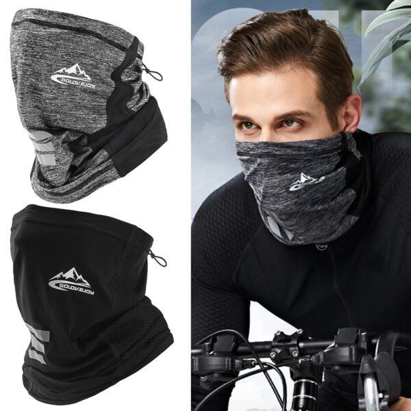 UV Protection Ice Silk Face Cover Neck Tube Outdoor Sports Bandana Scarf Breathable Hiking Scarf Neck Gaiter Bandana