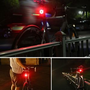 LEDUSB Rechargeable Waterproof Bicycle Rear Light, IPX8,Helmet Light With 5 Modes Bicycle Tail Light