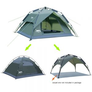 Desert&Fox Automatic Tent 3-4 Person Camping Tent, Easy Instant Setup Portable Backpacking for Sun Shelter, Traveling, Hiking