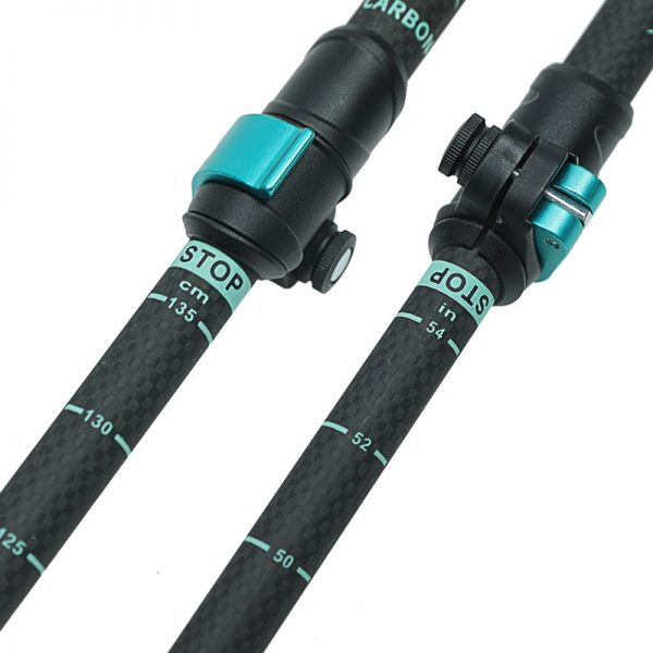 HITORHIKE Carbon Fiber Trekking Poles/Sticks quick lock Trekking pole hiking telescope stick nordic walking stick Shooting Crutch